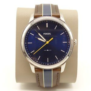 NWT FOSSIL Minimalist 3 Watch Brown Leather Band